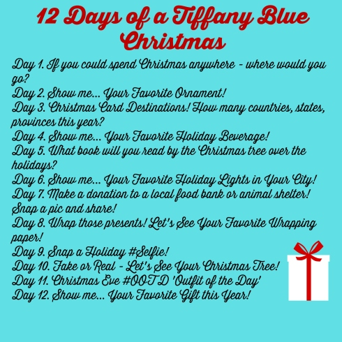 12 Days of a Tiffany Blue Christmas